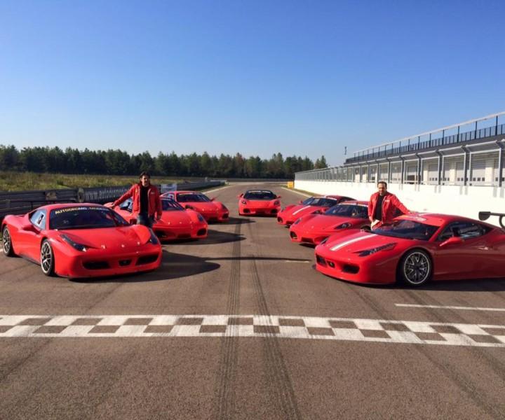 Crea un evento perfetto in autodromo con vere Ferrari da competizione